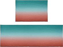 Set di 2 tappetini da bagno, colore sfumato,