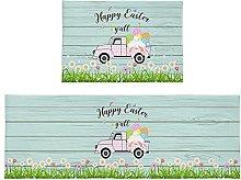 Set di 2 tappetini da bagno con uova di Pasqua,