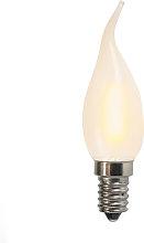 Set di 3 lampadine LED E14 a candela satinate 1W
