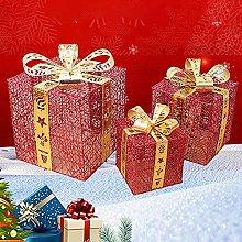 Set Di 3 Scatole Regalo Illuminate Di Natale, 15