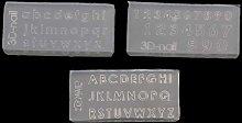 Set di 3 stampi in silicone con lettere
