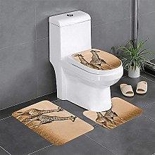 Set di 3 tappeti da bagno antiscivolo con due
