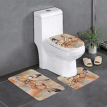 Set di 3 tappeti da bagno antiscivolo per vasca da