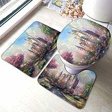 Set di 3 tappeti da bagno colorati con stampa