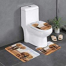 Set di 3 tappeti da bagno con elefante per la