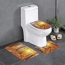 Set di 3 tappeti da bagno con set di 3 tappetini