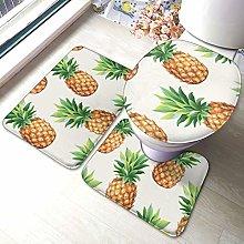 Set di 3 tappeti da bagno con stampa ananas