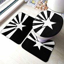 Set di 3 tappeti da bagno, con stampa bandiera