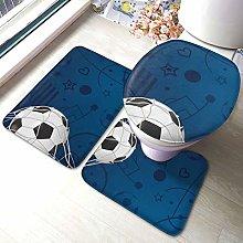 Set di 3 tappeti da bagno con stampa calcio
