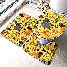 Set di 3 tappeti da bagno con stampa di elefanti