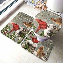 Set di 3 tappeti da bagno con stampa di rami di