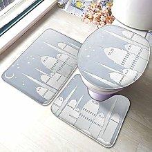 Set di 3 tappeti da bagno con stampa Dream Castle,