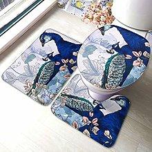Set di 3 tappeti da bagno con stampa floreale di