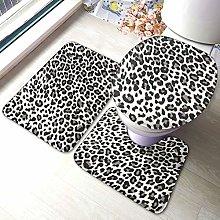 Set di 3 tappeti da bagno con stampa leopardata