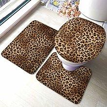 Set di 3 tappeti da bagno con stampa leopardo,