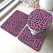 Set di 3 tappeti da bagno con stampa leopardo