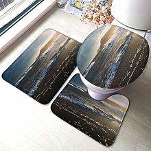 Set di 3 tappeti da bagno con stampa marina