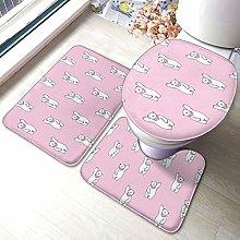 Set di 3 tappeti da bagno con stampa orso polare