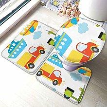Set di 3 tappeti da bagno diversificati Trasporti
