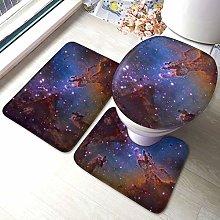 Set di 3 tappeti da bagno, motivo Space Galaxy