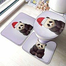Set di 3 tappeti da bagno, panda indossando