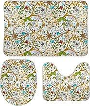 Set di 3 tappetini da bagno, 3 pezzi, set di