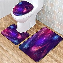 Set di 3 tappetini da bagno antiscivolo color