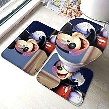 Set di 3 tappetini da bagno antiscivolo per