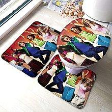 Set di 3 tappetini da bagno con tappetino da