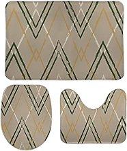 Set di 3 tappetini da bagno decorativi minimalisti