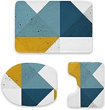 Set di 3 tappetini da bagno, design geometrico