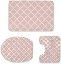 Set di 3 tappetini da bagno, design moderno,
