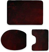Set di 3 tappetini da bagno, essenziali, colore