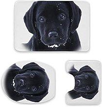 Set di 3 tappetini da bagno, motivo labrador e