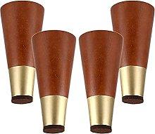 Set di 4 gambe per mobili in legno, gambe in legno