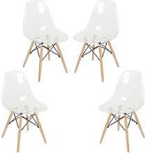 Set di 4 Pranzo Trasparenti Sedie, Moderne Design