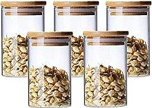 Set di 5 Barattoli di Vetro Contenitori Alimentari