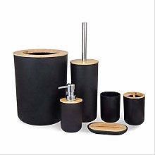Set di 6 accessori da bagno in plastica con