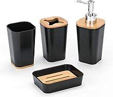 Set di accessori da bagno in plastica da 6 pezzi