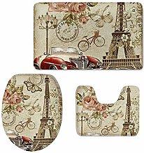 Set di accessori da bagno per la casa con stampa