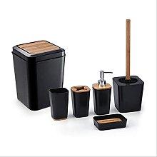 Set di accessori per il bagno in plastica da 6