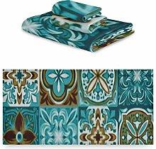 Set di asciugamani 3 pezzi, set di asciugamani