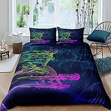 Set di biancheria da letto con copripiumino e 2