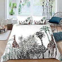 Set di biancheria da letto con giraffa e animali
