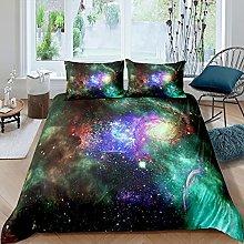 Set di biancheria da letto con motivo galassia,