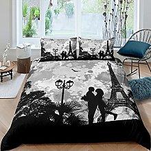 Set di biancheria da letto con motivo Torre Eiffel