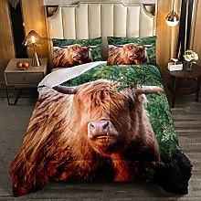 Set di biancheria da letto con mucca delle