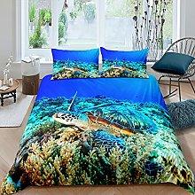 Set di biancheria da letto con tartaruga marina,