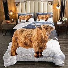 Set di biancheria da letto per bambini con mucca,