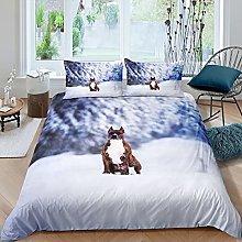 Set di biancheria da letto per cani con carlino e